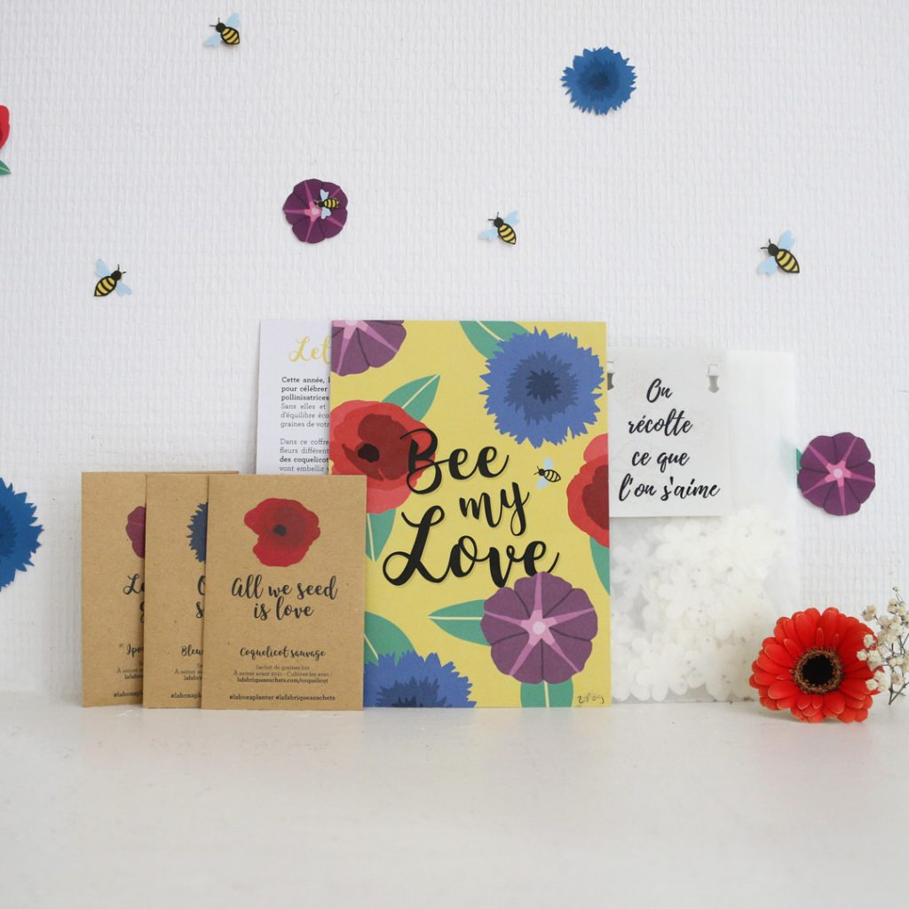 Coffret saint valentin bee my love la box a planter