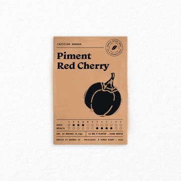 sachet graine bio piment red cherry la box à planter